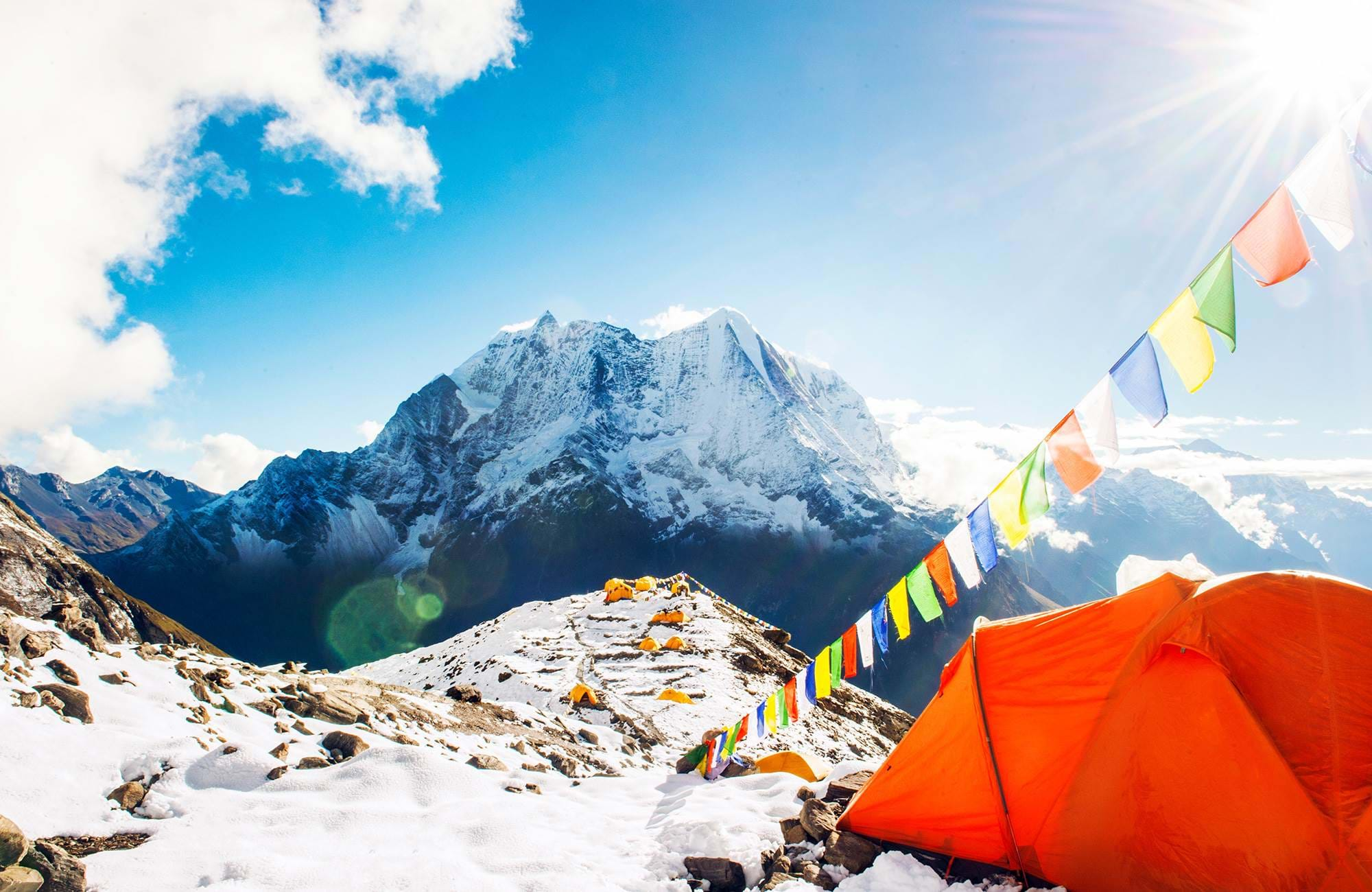 Tenten in de sneeuw Himalaya | Rondreis Mount Everest
