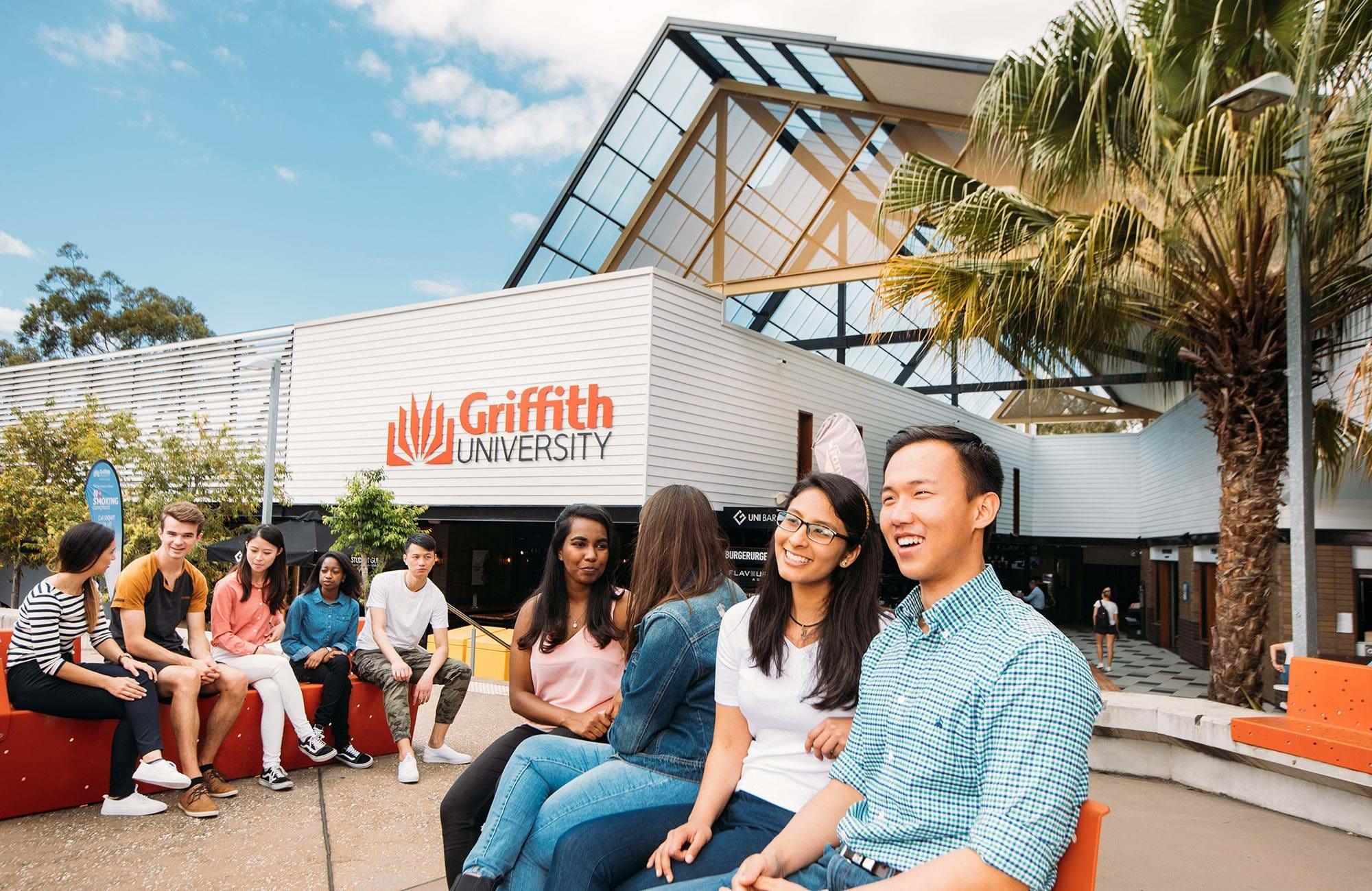 International Students Talking At Griffith University